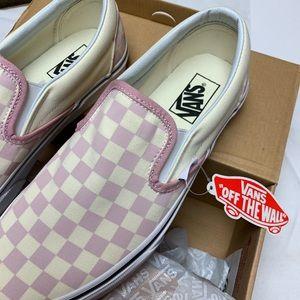 Vans Checkerboard Zephyr Pink Nwt Slip